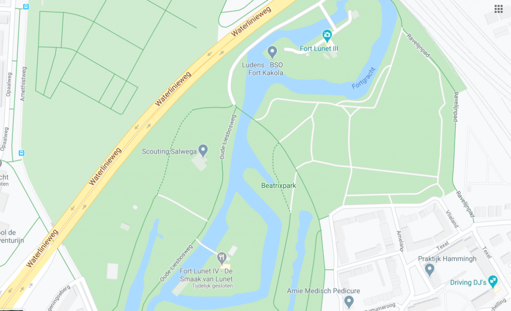 The top of Oude Liesboschweg runs more or less vertically through this map!